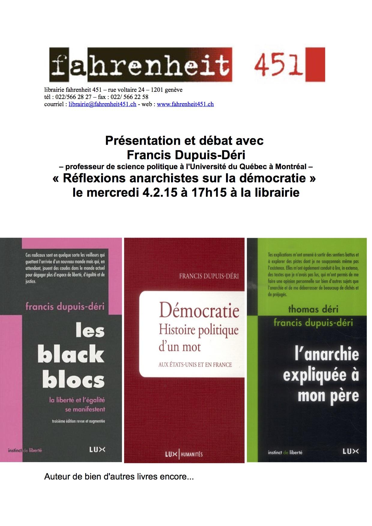 Présentation Dupuis-Déri